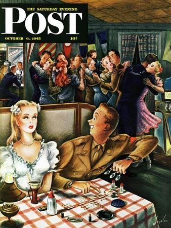"""War Stories,"" Saturday Evening Post Cover, October 6, 1945"