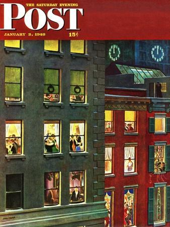 """Apartment Dwellers on New Year's Eve,"" Saturday Evening Post Cover, January 3, 1948"