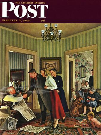 """Meeting the Date,"" Saturday Evening Post Cover, February 5, 1949"