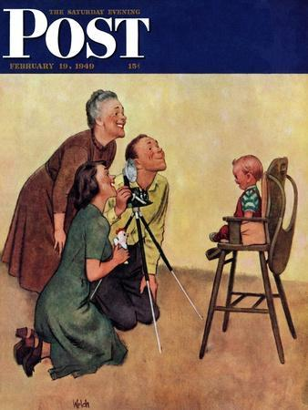 """""""Baby Picture,"""" Saturday Evening Post Cover, February 19, 1949"""