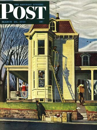 """Spring Cleaning,"" Saturday Evening Post Cover, March 26, 1949"