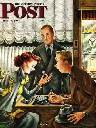 """Engagement Ring,"" Saturday Evening Post Cover, May 7, 1949"