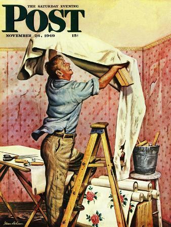 """Renegade Wallpaper,"" Saturday Evening Post Cover, November 26, 1949"