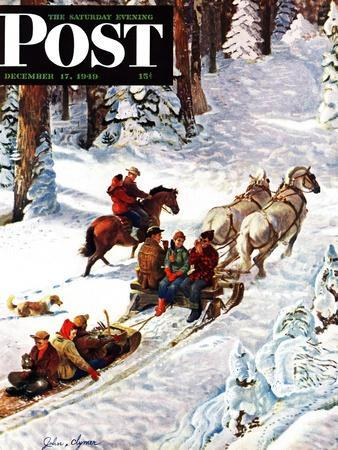 """Winter Sleigh Ride,"" Saturday Evening Post Cover, December 17, 1949"