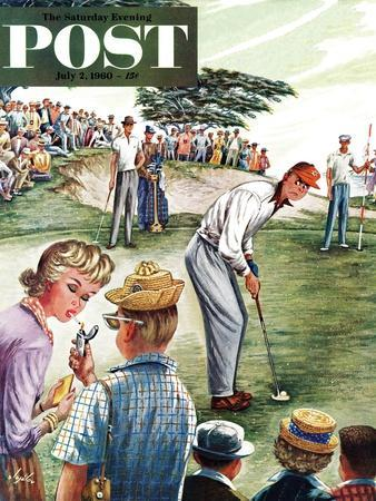 """""""Distracted Pro Golfer,"""" Saturday Evening Post Cover, July 2, 1960"""