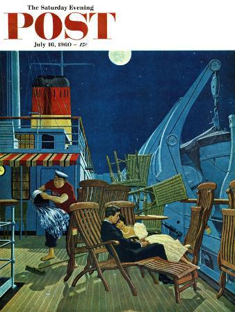 """""""Romantic Night on Deck,"""" Saturday Evening Post Cover, July 16, 1960"""