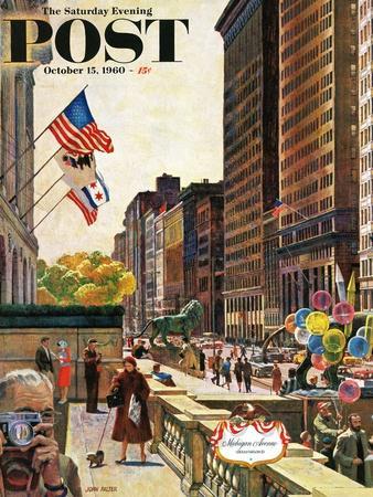 """Michigan Avenue, Chicago,"" Saturday Evening Post Cover, October 15, 1960"