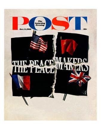 """""""The Peacemakers,"""" Saturday Evening Post Cover, October 14, 1961"""