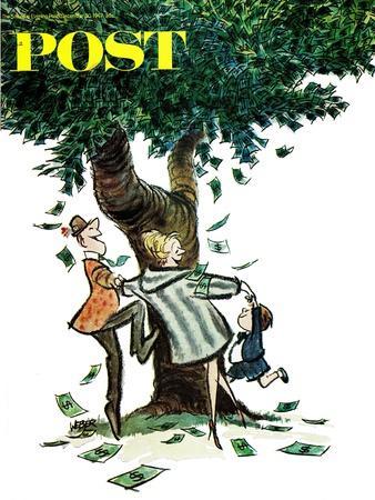"""Money, Money, Money,"" Saturday Evening Post Cover, December 30, 1967"