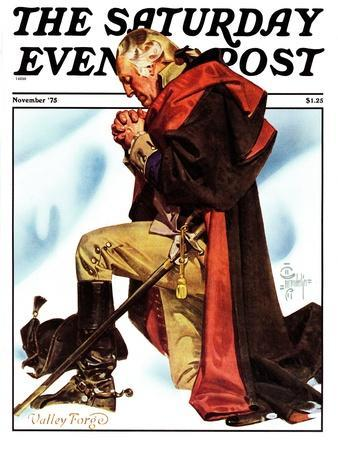 """Re-print of ""George Washington at Valley Forge"","" Saturday Evening Post Cover, November 1, 1975"