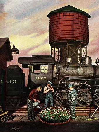 """""""Trainyard Flower Garden,"""" August 9, 1947"""