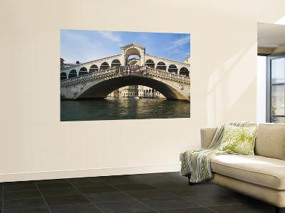 Rialto Bridge of Venice From Grand Canal, Venice, Italy