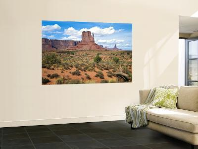 Mitten and Buttes at Mid-Day Navajo Tribal Park, Monument Valley, Arizona, USA