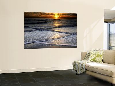 Sunset Reflection on Beach, Cape May, New Jersey, USA
