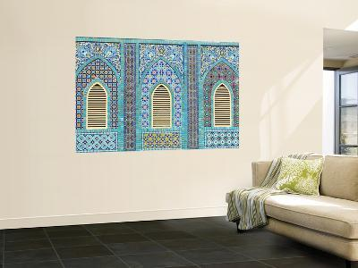 Tiling around Shuttered Windows, Shrine of Hazrat Ali
