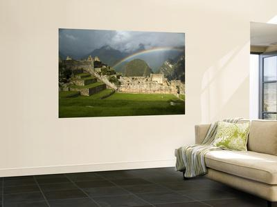 Rainbow over Incan Ruins of Machu Picchu