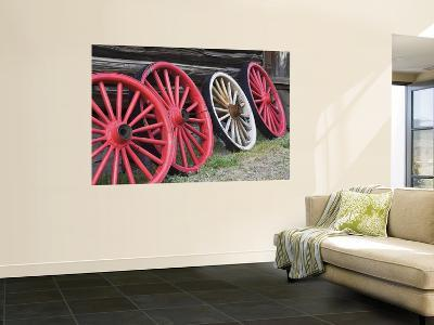 Wagon Wheels in Hell Roarin' Gulch, World Mining Museum, National Historic District