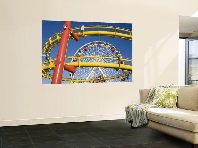 Ferris-Wheel and Roller Coaster, Pacific Park on Santa Monica Pier
