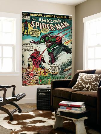 Marvel Comics Retro: The Amazing Spider-Man Comic Book Cover No.122, the Green Goblin (aged)