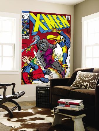 X-Men No.53 Cover: Cyclops and Blastaar