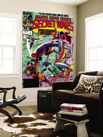 Secret Wars No.3 Cover: Colossus, Nightcrawler, Spider-Man, Wolverine, Storm, Cyclops and X-Men