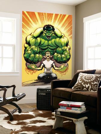 Hulk No.13 Cover: Banner, Bruce and Hulk