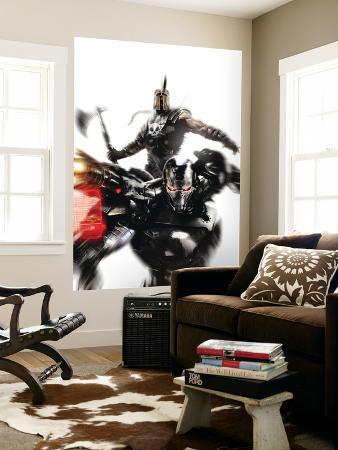 War Machine No.4 Cover: War Machine and Ares Fighting