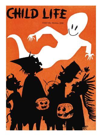 The Ghost Flys By - Child Life, October 1960