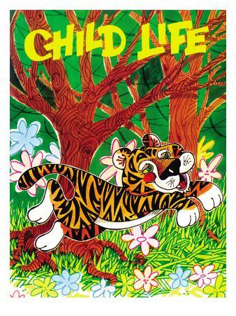 Happy Tiger - Child Life, March 1972