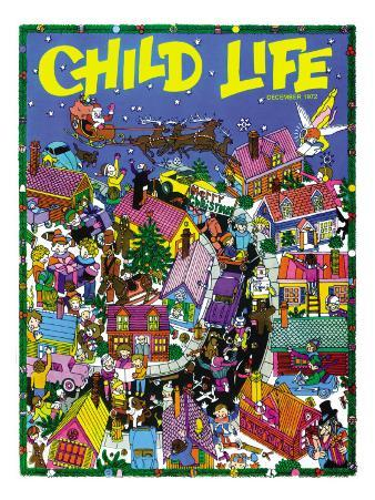Christmas Village - Child Life, December 1972
