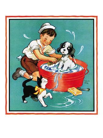 Time For a Bath - Child Life, June 1935