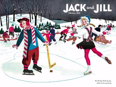 Skating Fun - Jack and Jill, February 1945