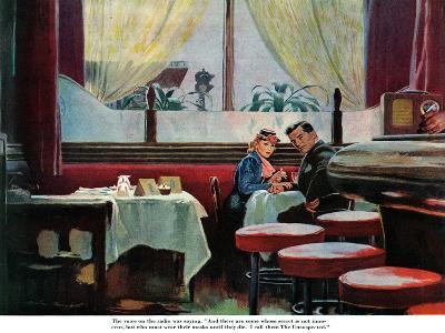 "The Unsuspected  - Saturday Evening Post ""Leading Ladies"", August 11, 1945 pg.11"