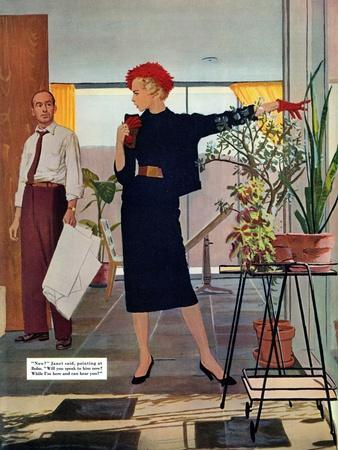 "The Brute Next Door  - Saturday Evening Post ""Leading Ladies"", October 9, 1954 pg.22"