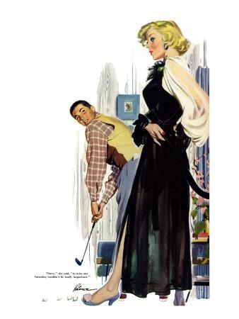 """No Man Around The House  - Saturday Evening Post """"Leading Ladies"""", August 13, 1955 pg.31"""