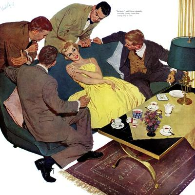 """Marriagable Age - Saturday Evening Post """"Men at the Top"""", December 13, 1958 pg.28"""