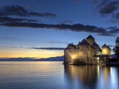 Switzerland, Vaud, Montreaux, Chateau De Chillon