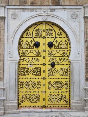 Tunisia, Tunis, Medina, Door on Dar El Jeld Street
