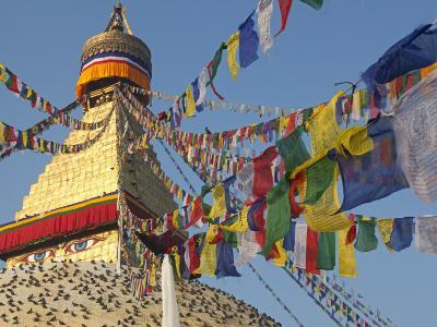 Nepal; Kathmandu, Boudinath Stupa