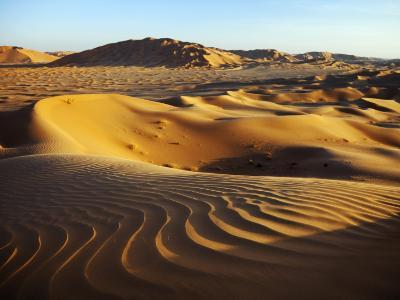 Oman, Empty Quarter; the Martian-Like Landscape of the Empty Quarter Dunes;
