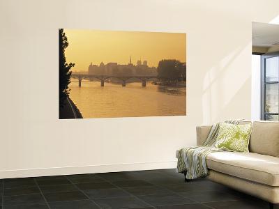 Sunset View of River Seine, Paris, France