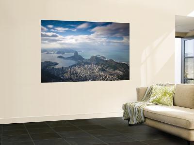 Brazil, Rio De Janeiro, Cosme Velho, Sugar Loaf Mountain, Botafogo Bay and Copacabana