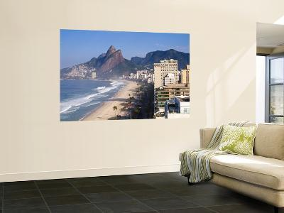 Brazil, Rio De Janeiro, Ipenema Beach Looking Towards Leblon