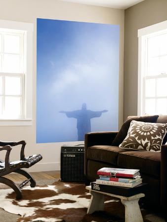 Brazil, Rio De Janeiro, Cosme Velho, Christ the Redeemer Statue at Atop Cocovado