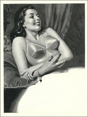 Happy Lady with Brassiere