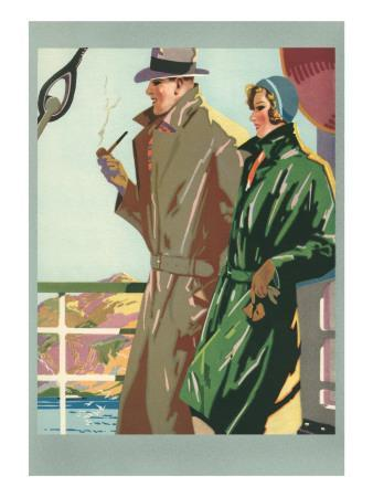 Couple on Ocean Liner