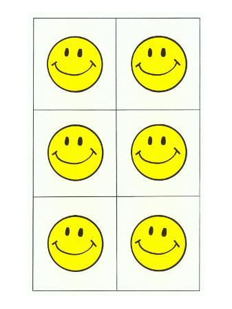 Six Yellow Happy Faces