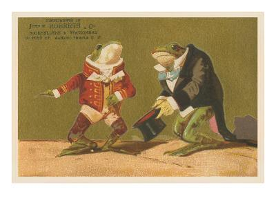 Frogs Dressed as Master and Servant