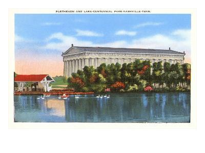Parthenon and Lake, Nashville, Tennessee