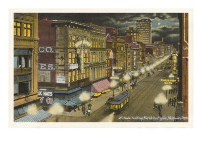 Moon over Main Street, Memphis, Tennessee